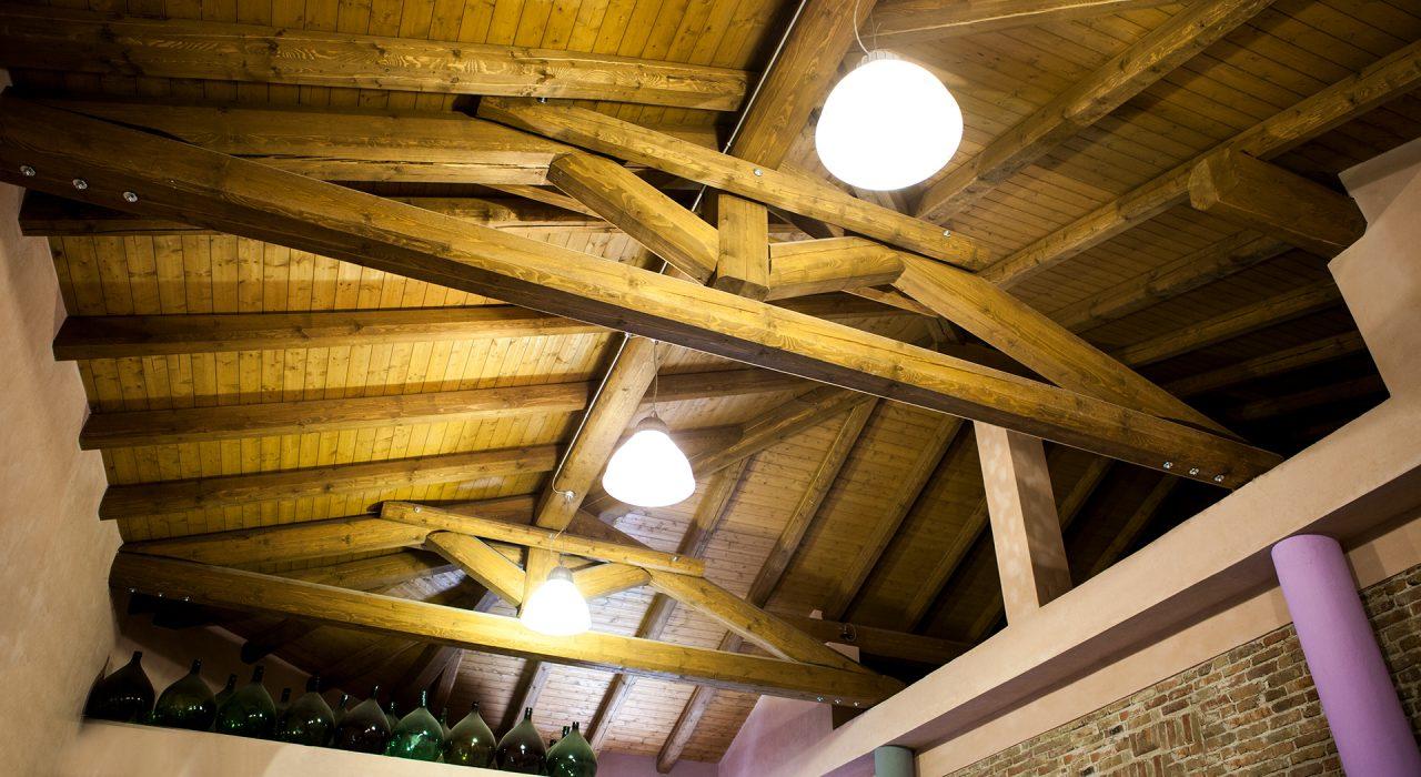 dettaglio soffitto cantina - comune di Verduno