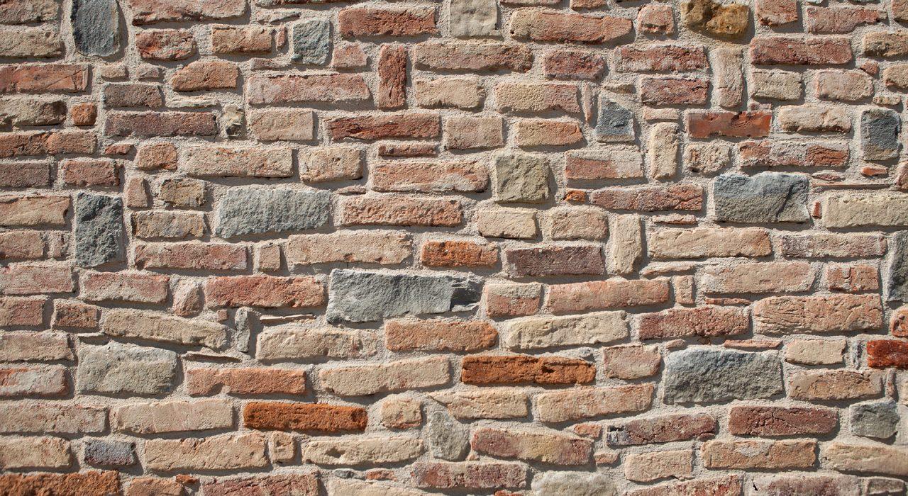 dettaglio muro esterno in mattoni