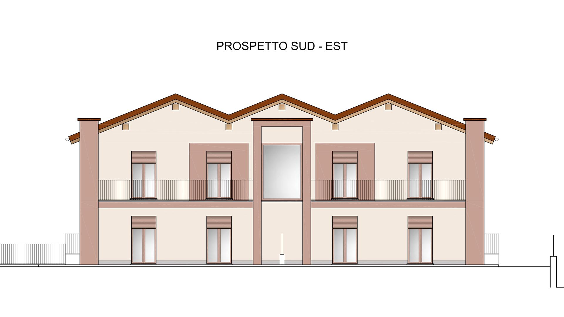 prospetto sud-est Residenza Sole2- comune di Verduno