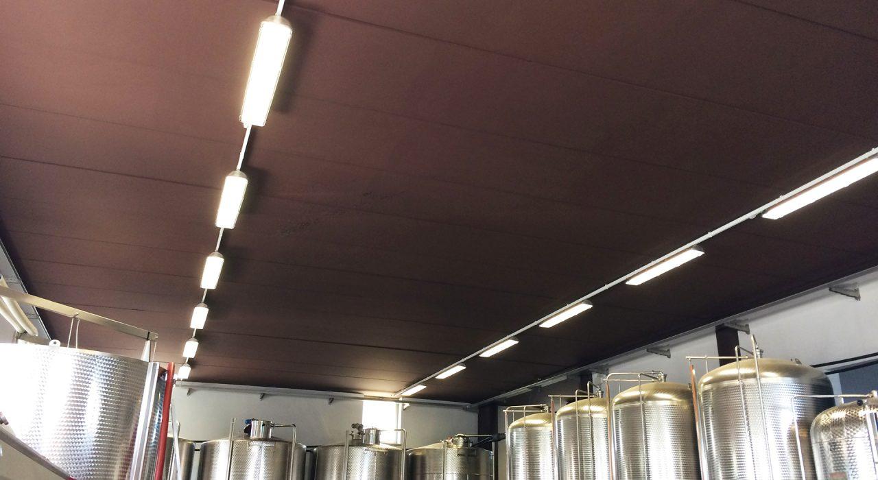 Dettaglio soffitto cantina sita a La Morra