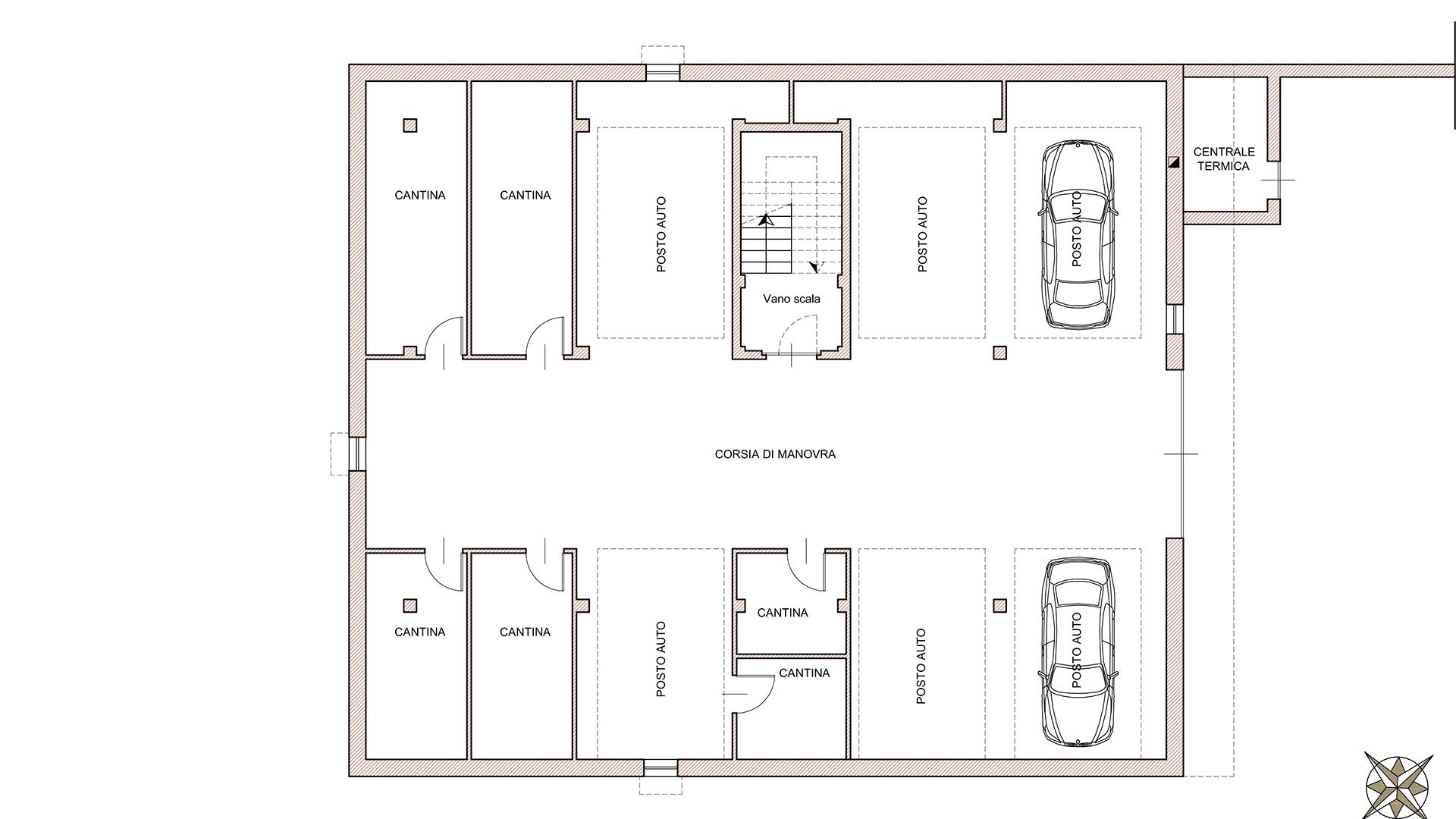 pianta piano primo residenza Sole 2 - comune di Verduno