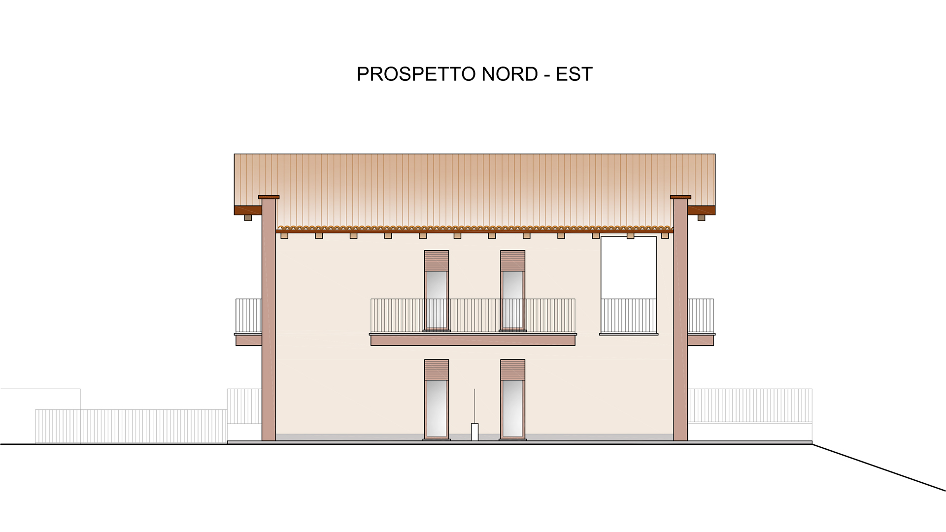 Prospetto nord Residenza Sole2 - comune di Verduno